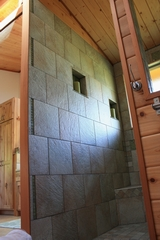 Custom remote home by Mauna Loa Cedar Homes